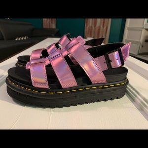 Dr Martens Air Wair pink holo sandals